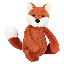 Buy Jellycat Bashful Fox Cub Soft Toy, Medium, Orange/White Online at johnlewis.com