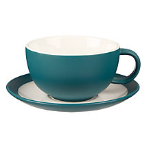 Buy John Lewis Puritan Cappuccino Cup and Saucer, Spruce, 375ml Online at johnlewis.com