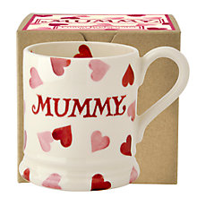 Buy Emma Bridgewater Hearts Mummy Half Pint Mug, Pink, 284ml Online at johnlewis.com