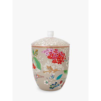 PiP Studio Floral 2.0 Hummingbird Storage Jar, Khaki, 1.5L