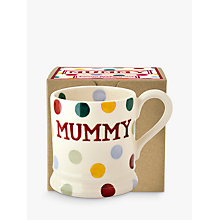 Buy Emma Bridgewater Polka Dot Mummy Half Pint Mug, Multi, 284ml Online at johnlewis.com