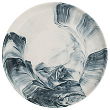 Buy BlissHome Marble Side Plate, Dia.22cm, Grey Online at johnlewis.com