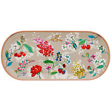 Buy PiP Studio Floral 2.0 Hummingbird Cake Tray, Khaki/Multi, 33.5 cm Online at johnlewis.com