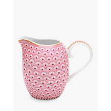 Buy PiP Studio Floral 2.0 Small Cream Jug, Pink, 250ml Online at johnlewis.com