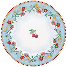 Buy PiP Studio Floral 2.0 Cherry Plate, Dia.17cm Online at johnlewis.com