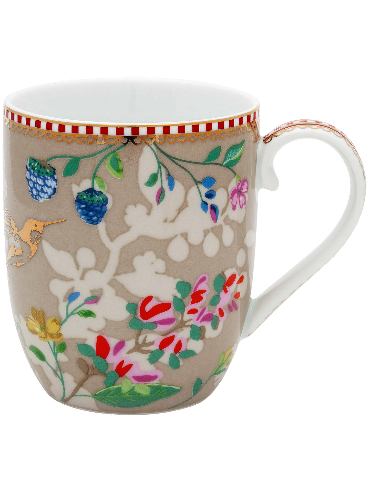 BuyPiP Studio Floral 2.0 Small Hummingbird Mug, 145ml, Khaki Online at johnlewis.com