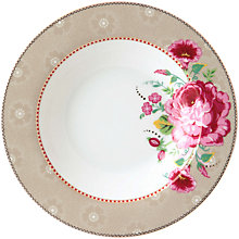 Buy PiP Studio Floral 2.0 Soup Plate, Khaki/Multi, Dia.21.5 Online at johnlewis.com