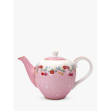 Buy PiP Studio Floral 2.0 Cherry 3 Cup Teapot, Pink, 750ml Online at johnlewis.com