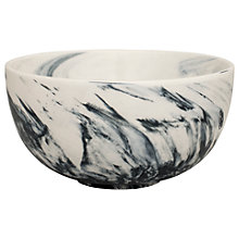 Buy BlissHome Marble Cereal Bowl, Dia.14cm, Grey Online at johnlewis.com