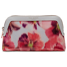 Buy Ted Baker Bryn Expressive Pansy Makeup Bag, Light Grey Online at johnlewis.com