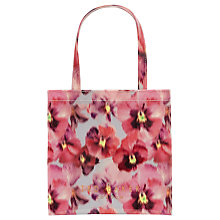 Buy Ted Baker Loucon Expressive Pansy Shopper Bag, Light Grey Online at johnlewis.com
