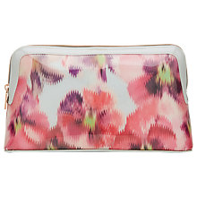 Buy Ted Baker Yanick Expressive Pansy Wash Bag, Light Grey Online at johnlewis.com