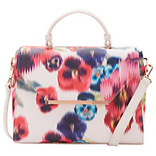 Buy Ted Baker Nouvel Expressive Pansy Tote Bag, Baby Pink Online at johnlewis.com