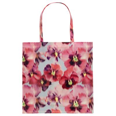 Ted Baker Tesscon Expressive Pansy Large Shopper Bag, Light Grey