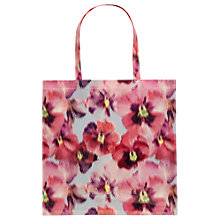 Buy Ted Baker Tesscon Expressive Pansy Large Shopper Bag, Light Grey Online at johnlewis.com