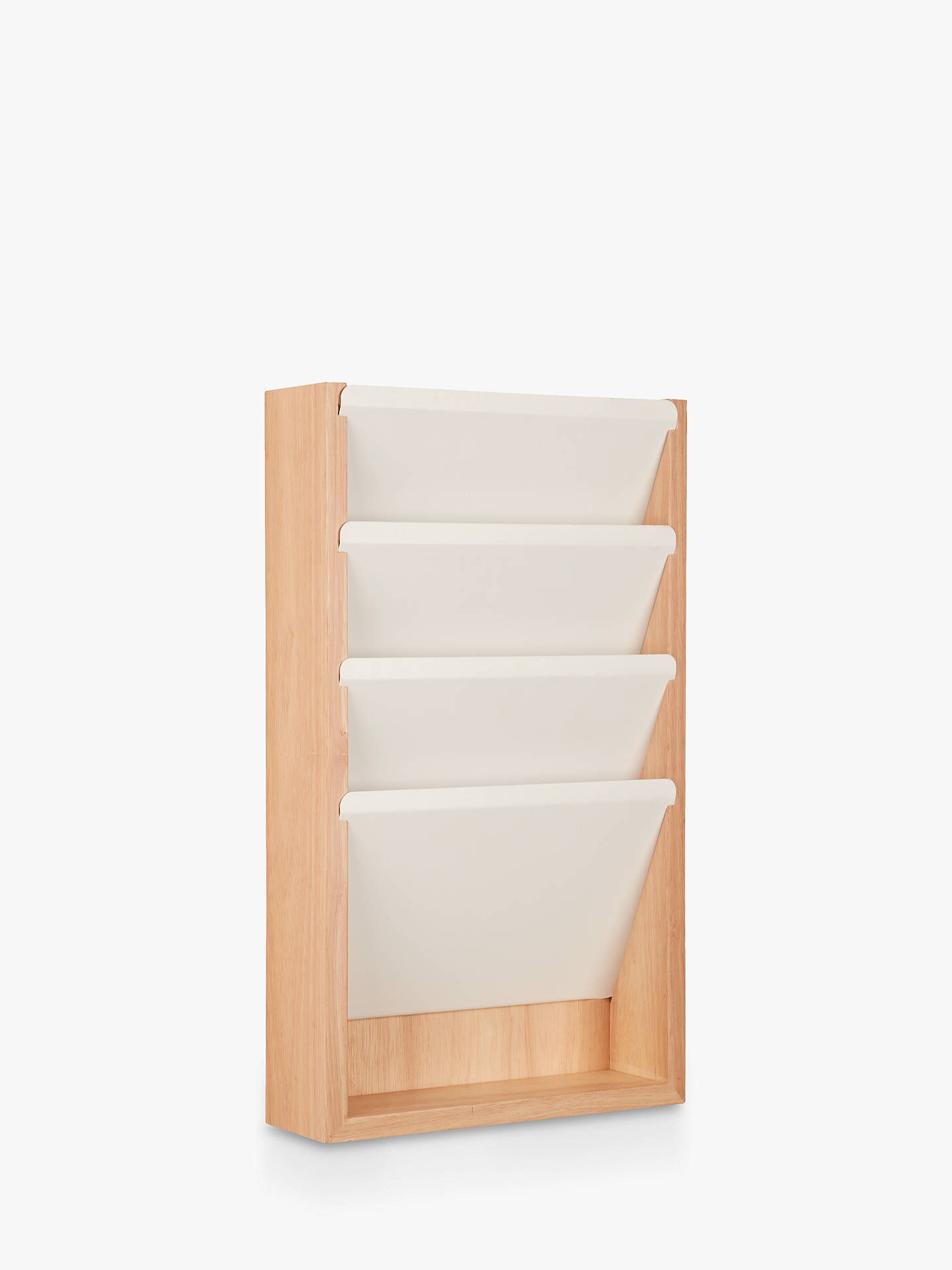 f349d430a979 House by John Lewis Hanging Mail Organiser, White