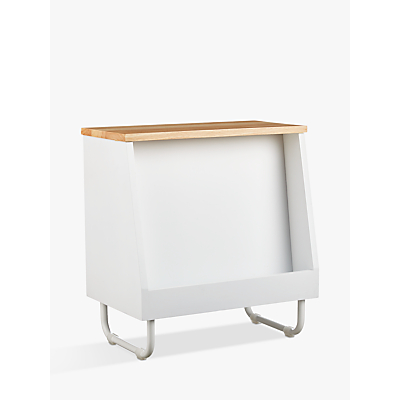 House by John Lewis Magazine Rack Storage, White
