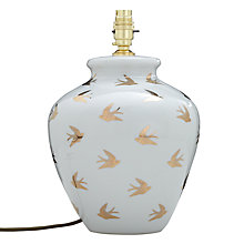 Buy India Jane Swallows Jar Lamp Base, White / Gold Online at johnlewis.com