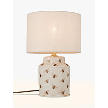 Buy India Jane Bees Canister Jar Lamp Base, Cream Online at johnlewis.com