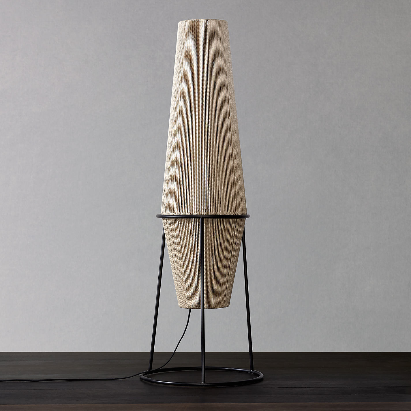 Buy John Lewis Truman String Floor Lamp. Natural / Black | John Lewis for String Floor Lamp  70ref