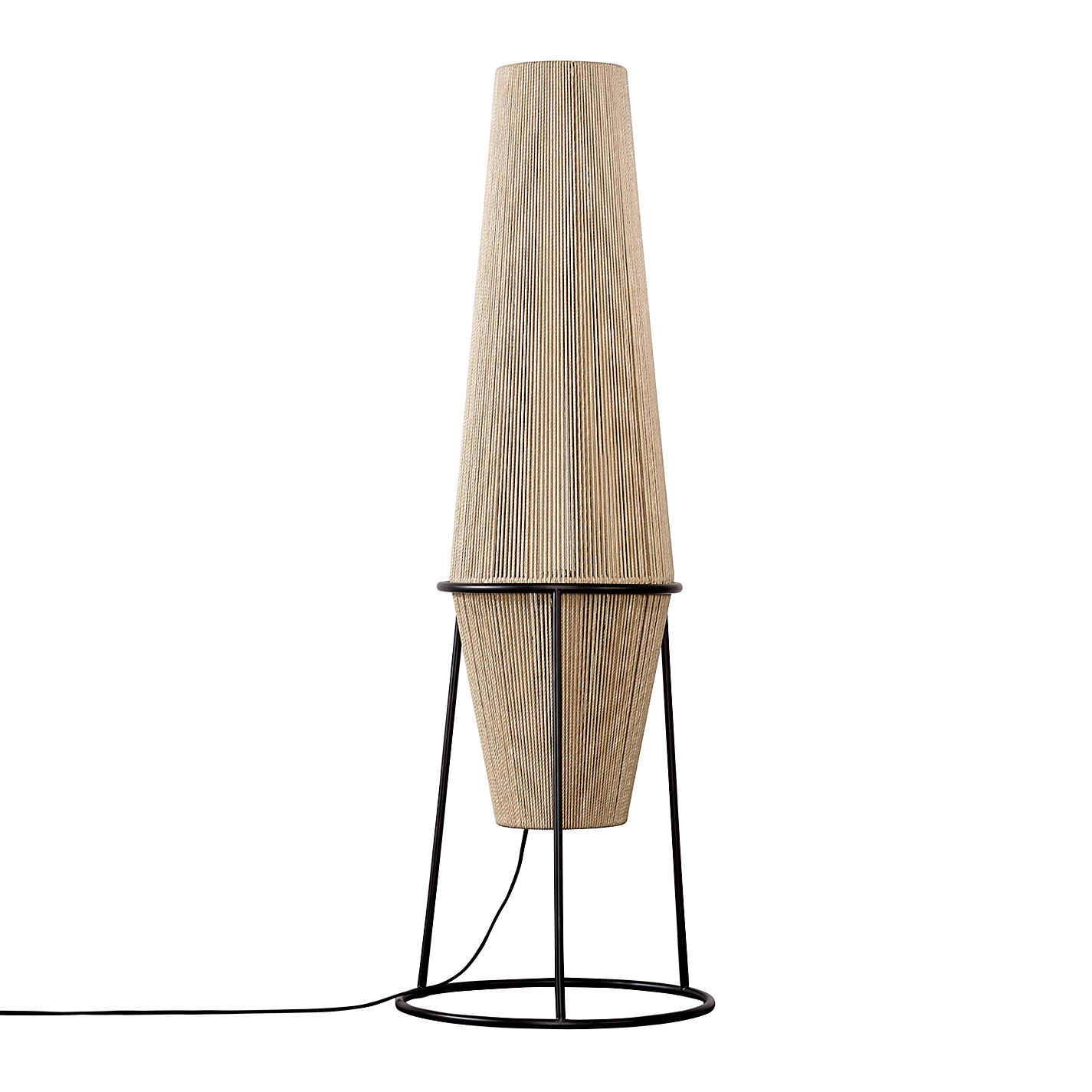 Buy John Lewis Truman String Floor Lamp. Natural / Black | John Lewis for String Floor Lamp  75tgx