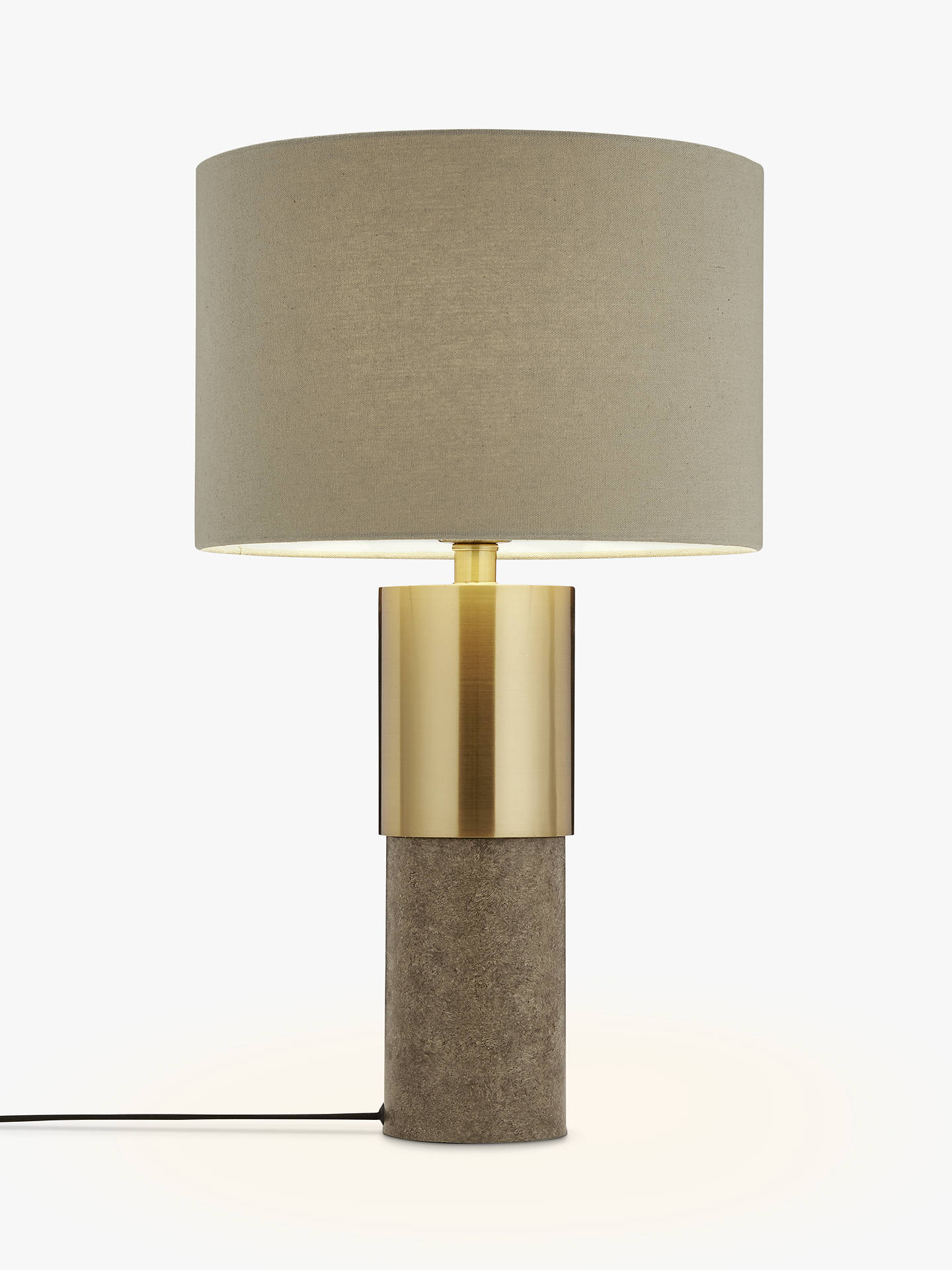 Buy John Lewis & Partners Akani Table Lamp, Grey/Brass Online at johnlewis.com
