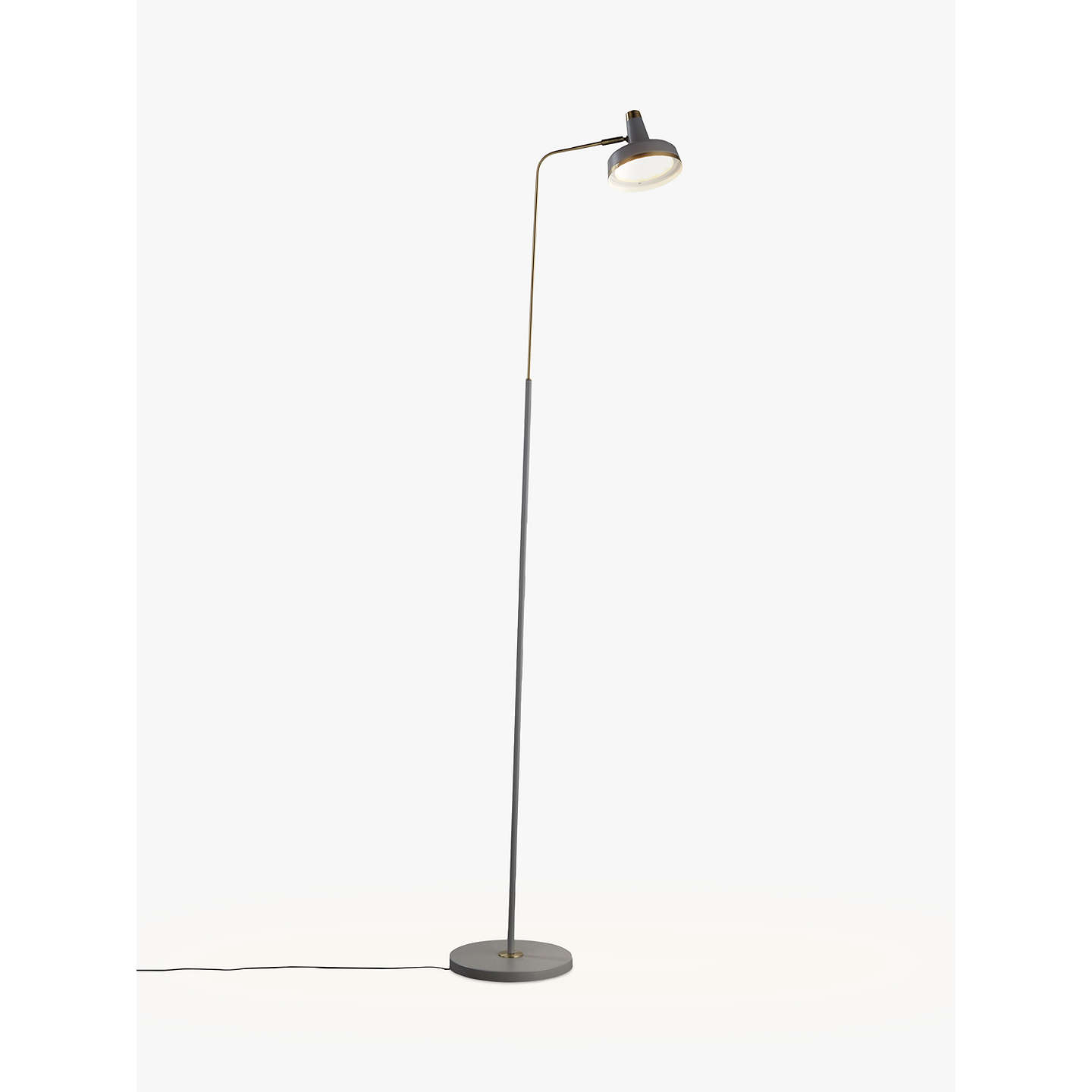 John lewis scott led floor lamp grey brass at john lewis buyjohn lewis scott led floor lamp grey brass online at johnlewis mozeypictures Choice Image