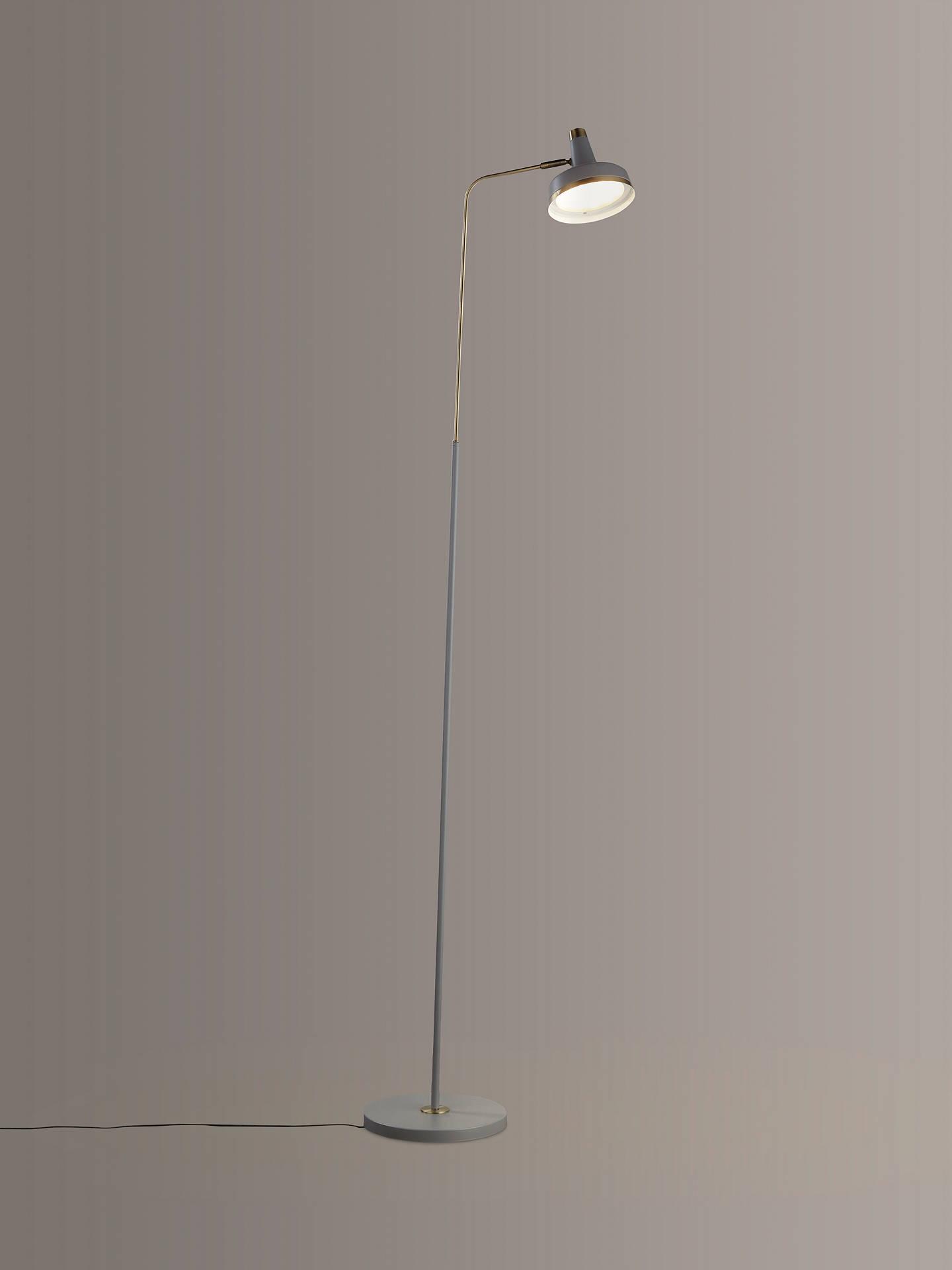 size 40 3c7bc 8d0b8 John Lewis & Partners Scott LED Floor Lamp, Grey / Brass