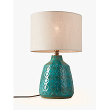 Buy John Lewis Samara Retro Lamp Base, Green Online at johnlewis.com