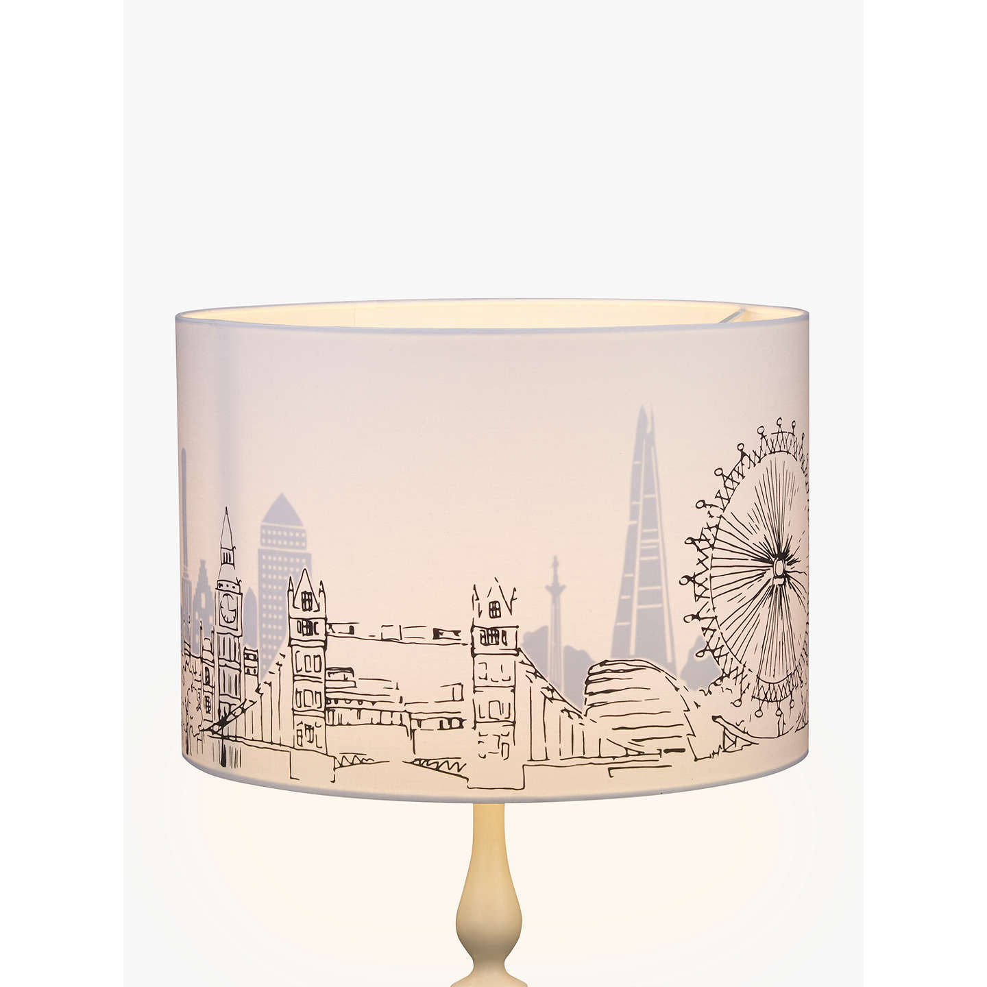 John lewis london cityscape lampshade white black 40cm at john lewis buyjohn lewis london cityscape lampshade white black 40cm online at johnlewis aloadofball Gallery