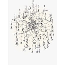 Buy John Lewis Supernova LED Large Crystal Pendant Ceiling Light, Chrome/White, 60cm Online at johnlewis.com