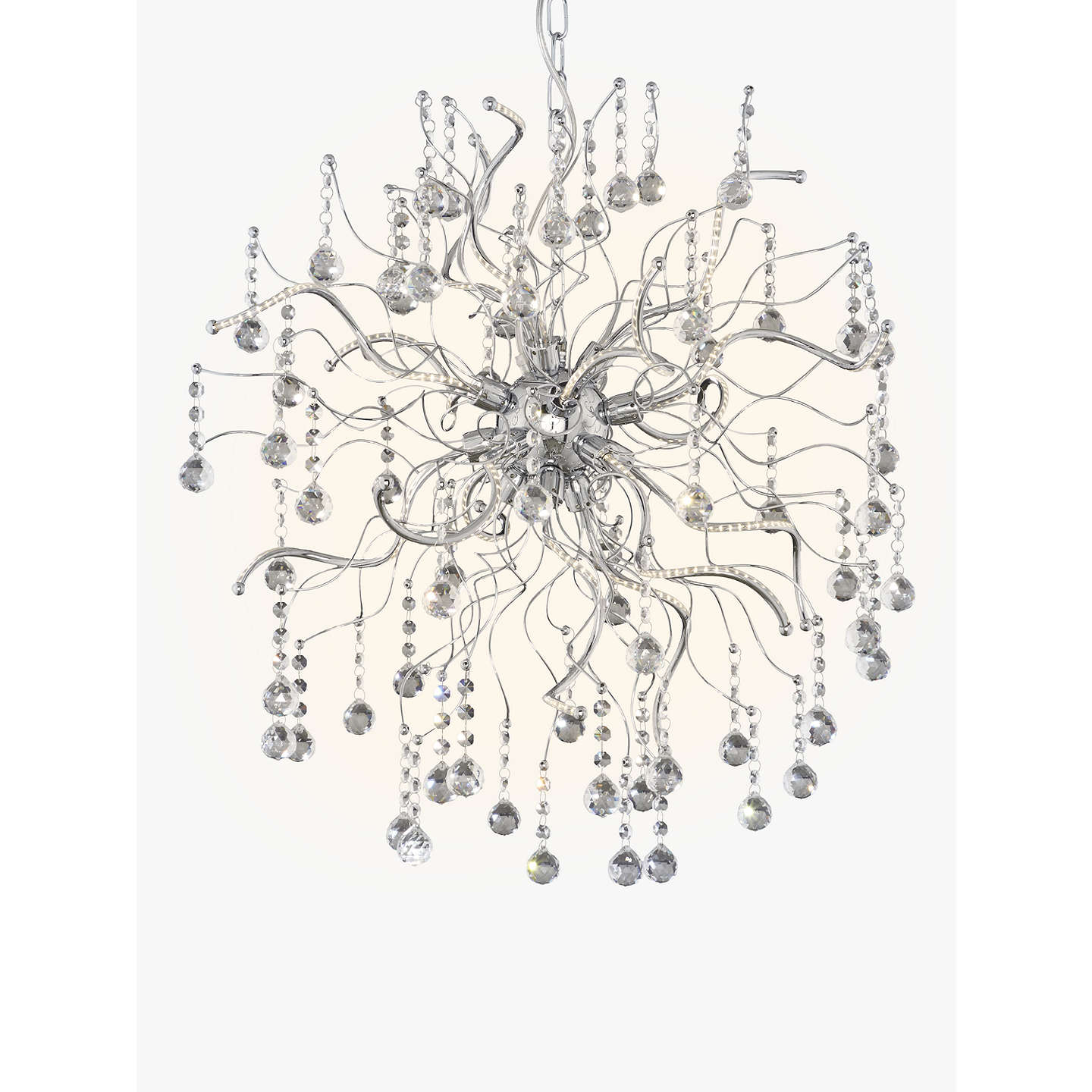 John lewis supernova led large crystal pendant ceiling light chrome buyjohn lewis supernova led large crystal pendant ceiling light chromewhite 60cm online mozeypictures Image collections