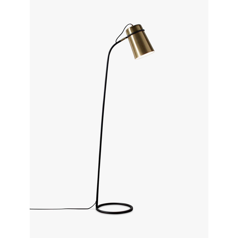 John Lewis Keegan Floor Lamp, Satin Brass at John Lewis