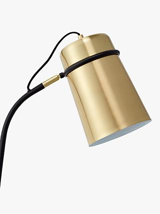 John Lewis & Partners Keegan Floor Lamp, Satin Brass