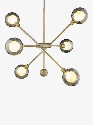 Buy John Lewis & Partners Huxley Ceiling Light, Smoke/Antique Brass Online at johnlewis.com