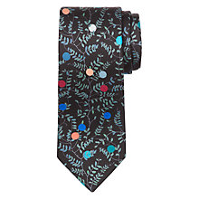 Buy Paul Smith Floral Silk Narrow Tie, Black/Multi Online at johnlewis.com