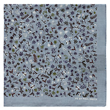 Buy Paul Smith Floral Cotton Pocket Square, Light Blue Online at johnlewis.com