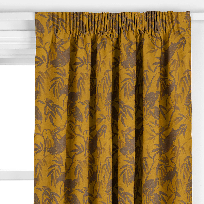 john lewis otori weave curtain gold at john lewis. Black Bedroom Furniture Sets. Home Design Ideas