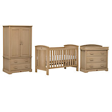 Buy Boori Casa Cotbed, Dresser and Wardrobe Set, Almond Online at johnlewis.com