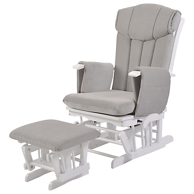 Product photo of Kub chatsworth glider nursing chair and foot stool grey