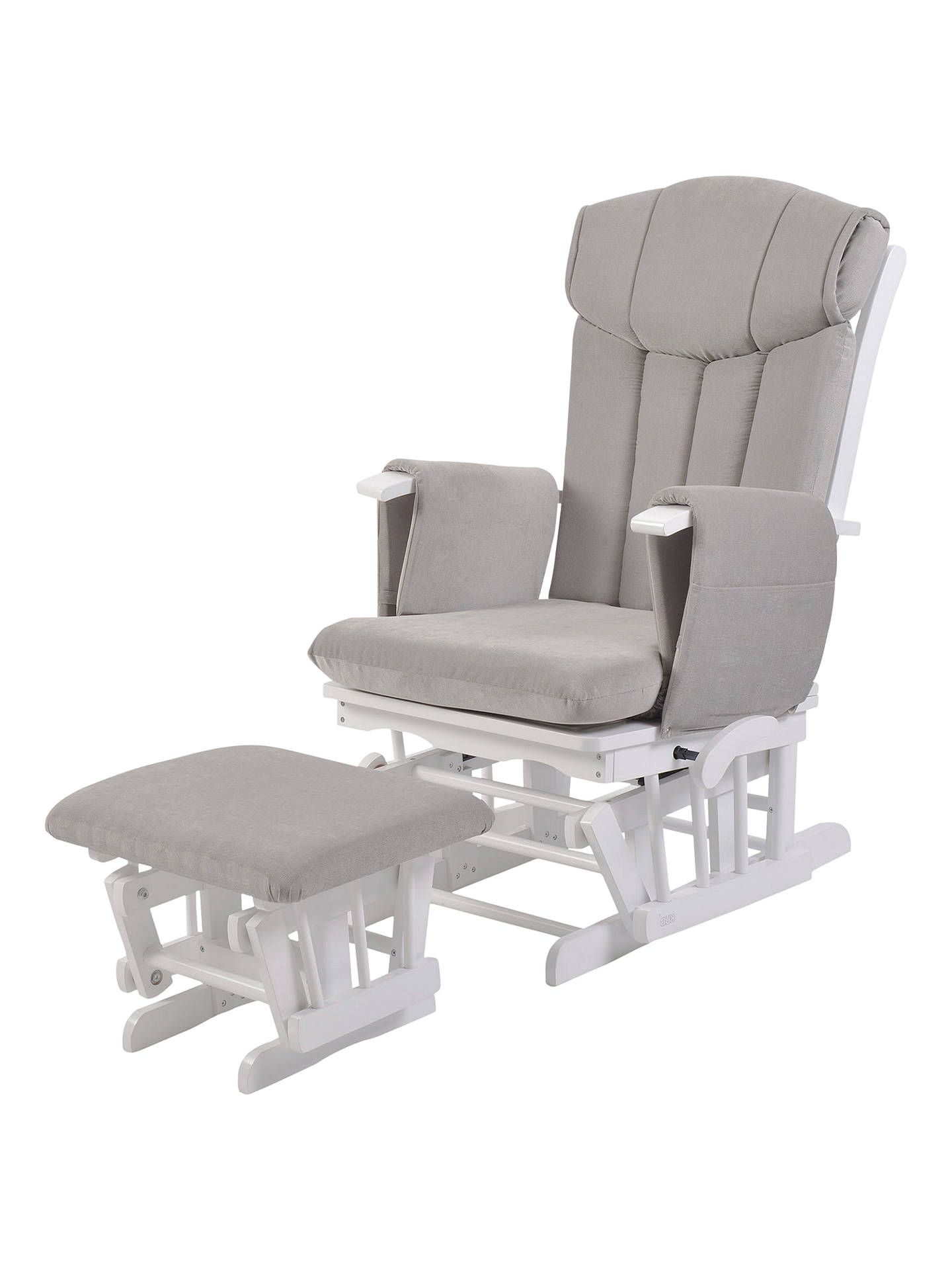 Buy Kub Chatsworth Glider Nursing Chair and Foot Stool, Grey Online at johnlewis.com