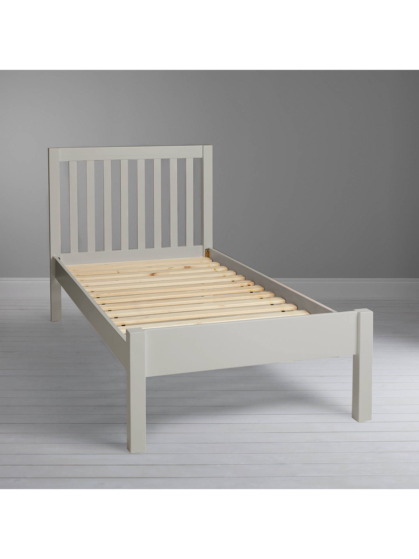 BuyJohn Lewis & Partners Wilton Child Compliant Bed Frame, Single, Grey Online at johnlewis.com