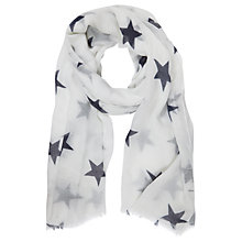 Buy Mint Velvet Star Print Scarf, Ivory/Ink Online at johnlewis.com