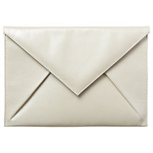 Buy Phase Eight Jenna Leather Clutch Bag, White Online at johnlewis.com