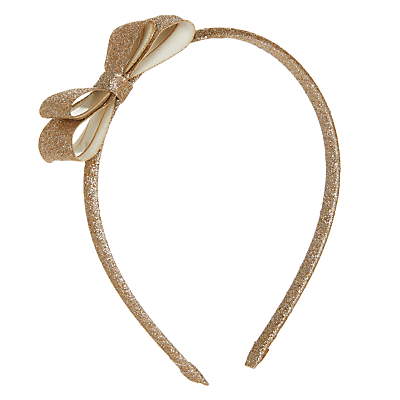 John Lewis Girls' Glitter Headband, Gold