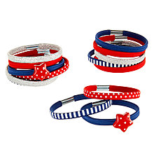 Buy John Lewis Girls' Star Hair Ponies, Pack of 14, Red/Blue Online at johnlewis.com