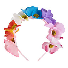 Buy John Lewis Children's Summer Flower Crown Headband, Multi Online at johnlewis.com