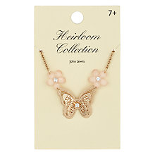 Buy John Lewis Heirloom Collection Butterfly Necklace, Gold Online at johnlewis.com