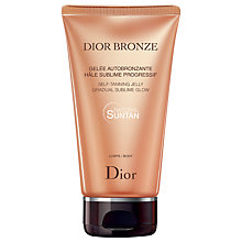 Buy Dior Bronze Self Tanning Jelly Gradual Glow - Body, 150ml Online at johnlewis.com