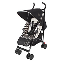 Buy Maclaren Quest Stroller, Railroad Stripe Black Online at johnlewis.com